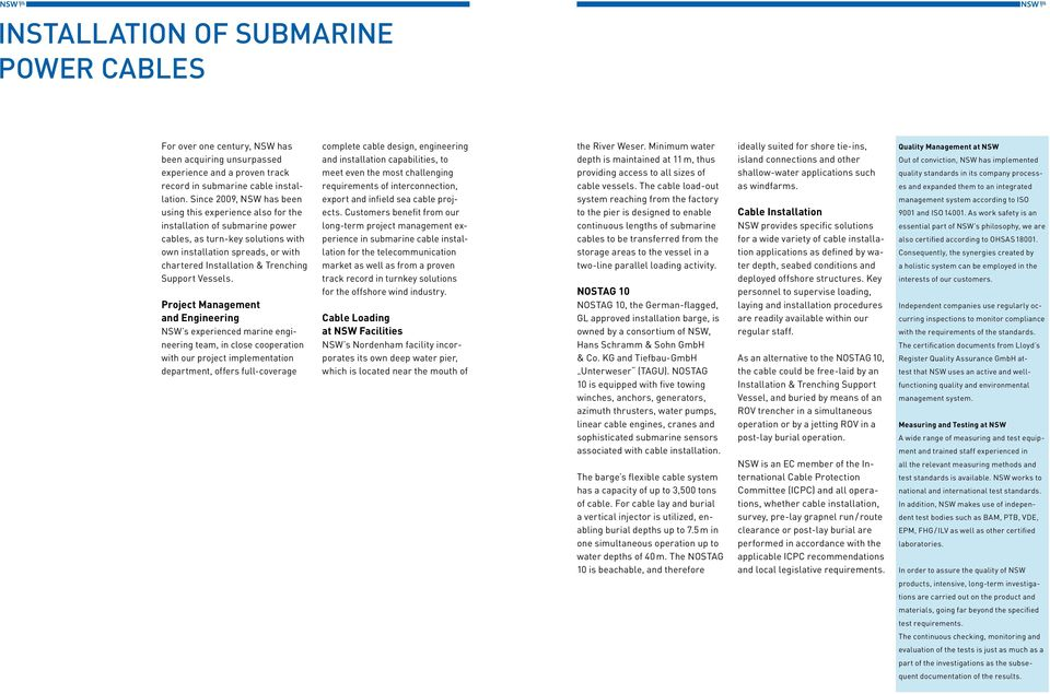 NSW Submarine Power  Cables for the future, delivered today  - PDF