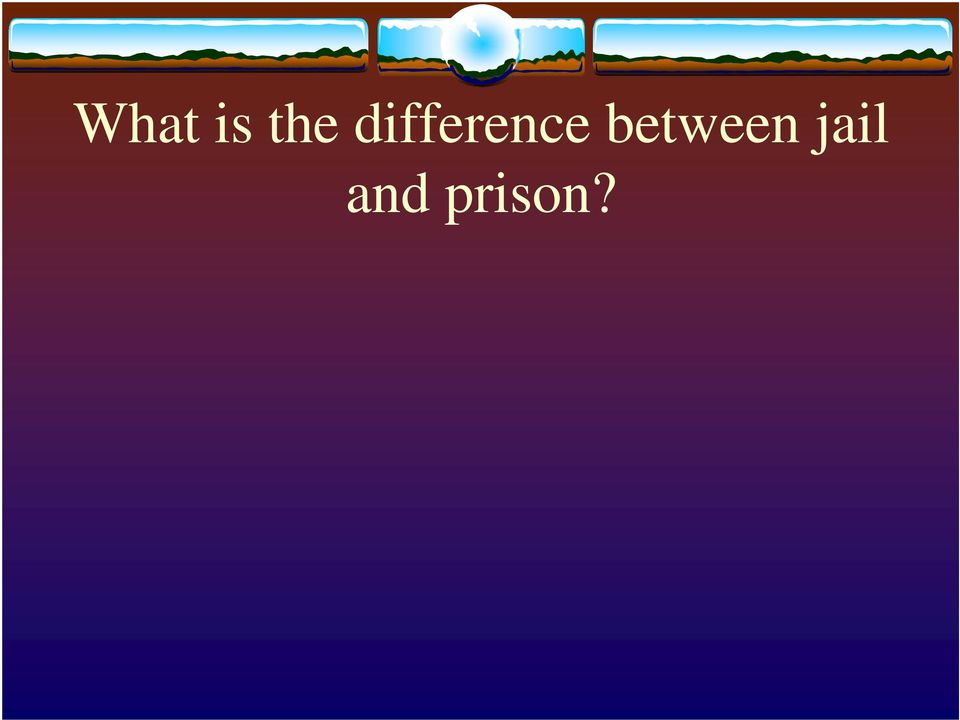 What is the difference between jail and prison