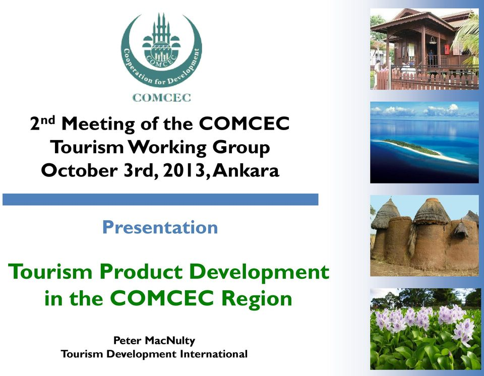 Tourism Product Development in the COMCEC