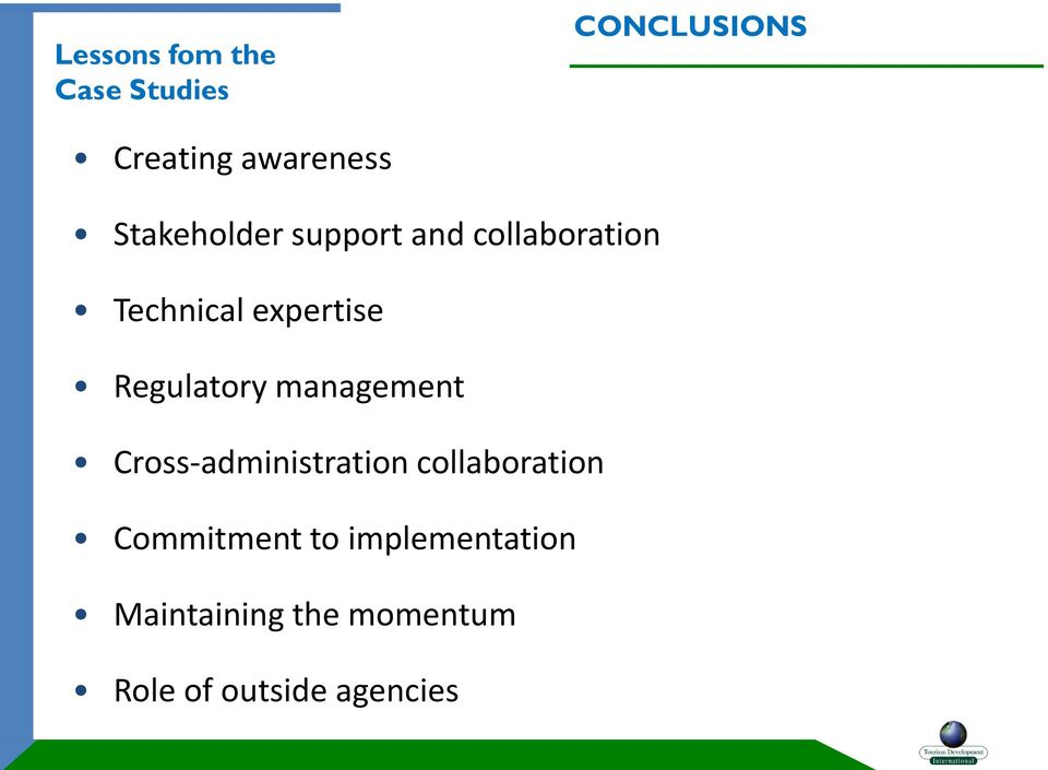 Regulatory management Cross-administration collaboration