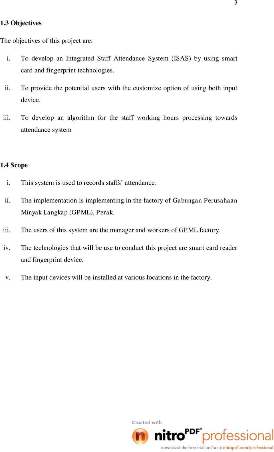 INTEGRATED STAFF ATTENDANCE SYSTEM (ISAS) WEE PEK LING - PDF