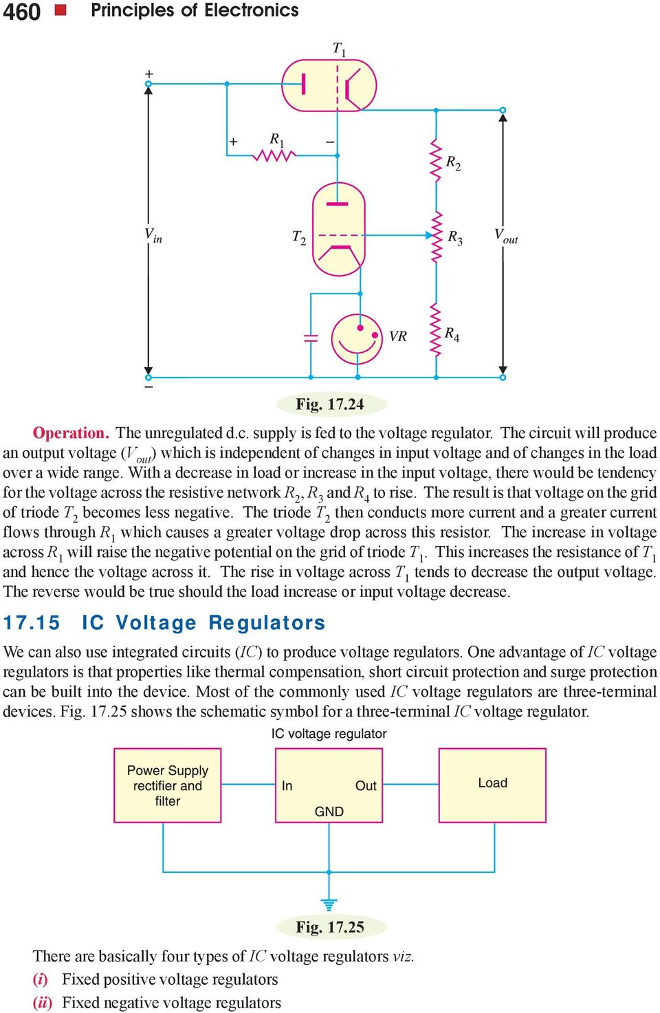 Regulated Dc Power Supply Pdf Circuits And Solution 5 Volt Regulator Circuit Using 7805 Ic With A Decrease In Load Or Increase The Input Voltage There Would Be Tendency