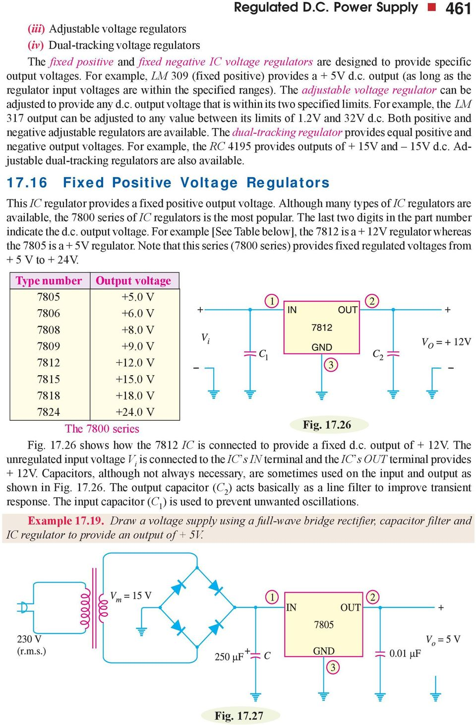 Regulated Dc Power Supply Pdf Variable Using 7805 For Example Lm 309 Fixed Positive Provides A 5v Output