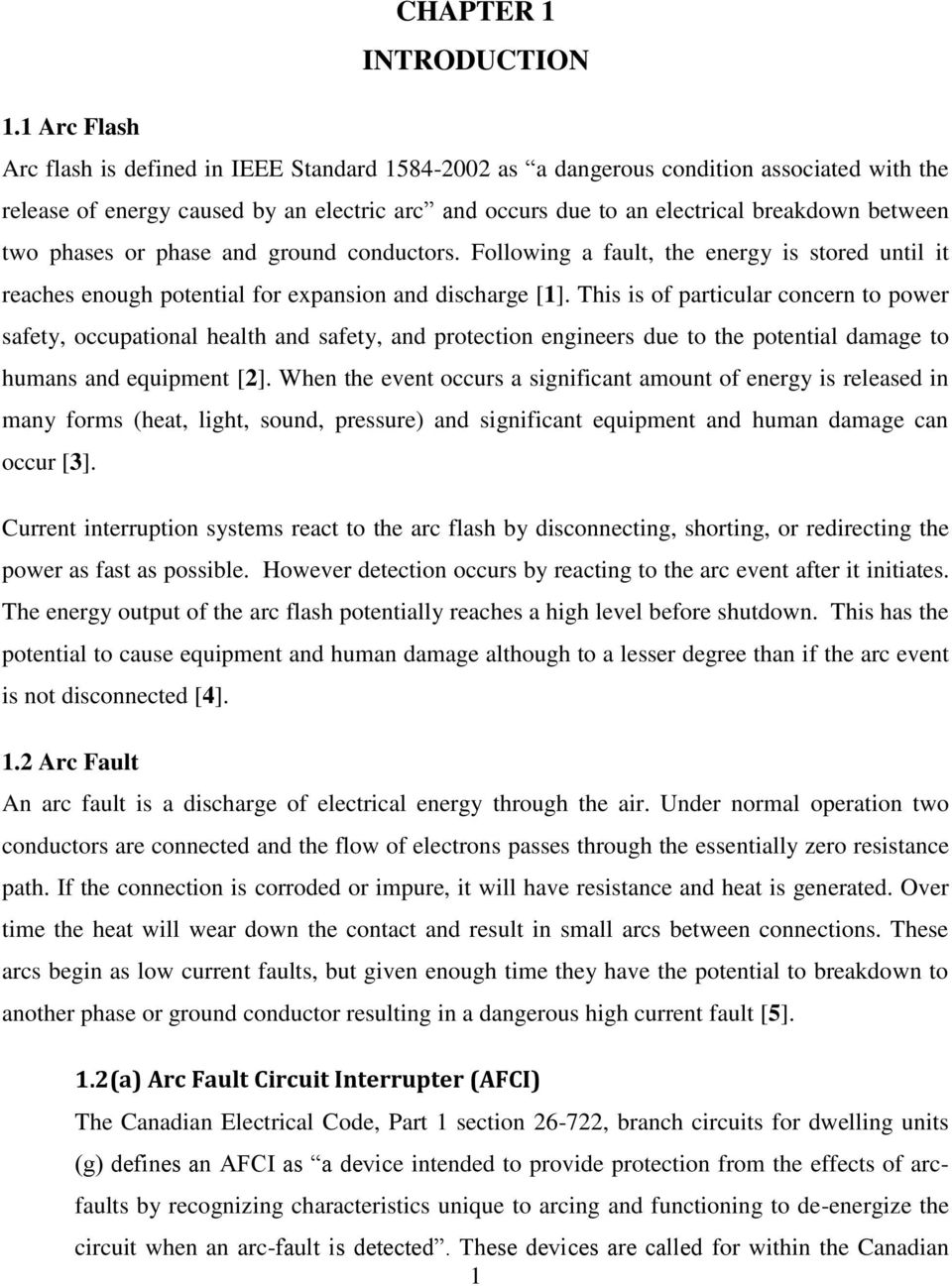 Arc Flash Detection Through Voltage Current Signatures Pdf Thorough And Provides A Great Introduction To Electric Circuits Two Phases Or Phase Ground Conductors Following Fault The Energy Is Stored