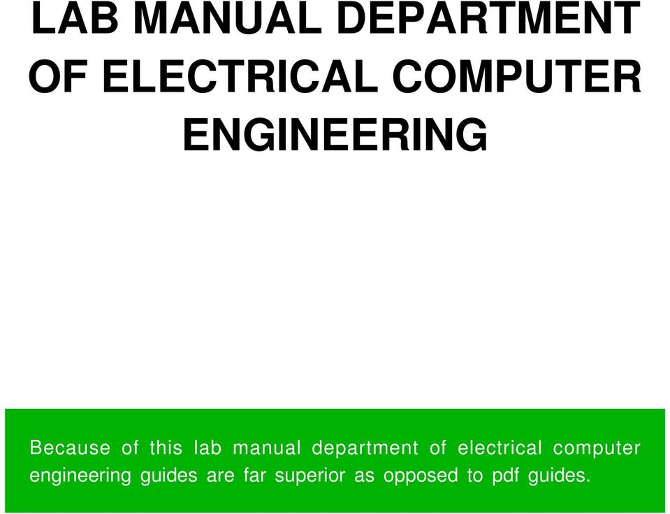 LAB MANUAL DEPARTMENT OF ELECTRICAL COMPUTER ENGINEERING - PDF