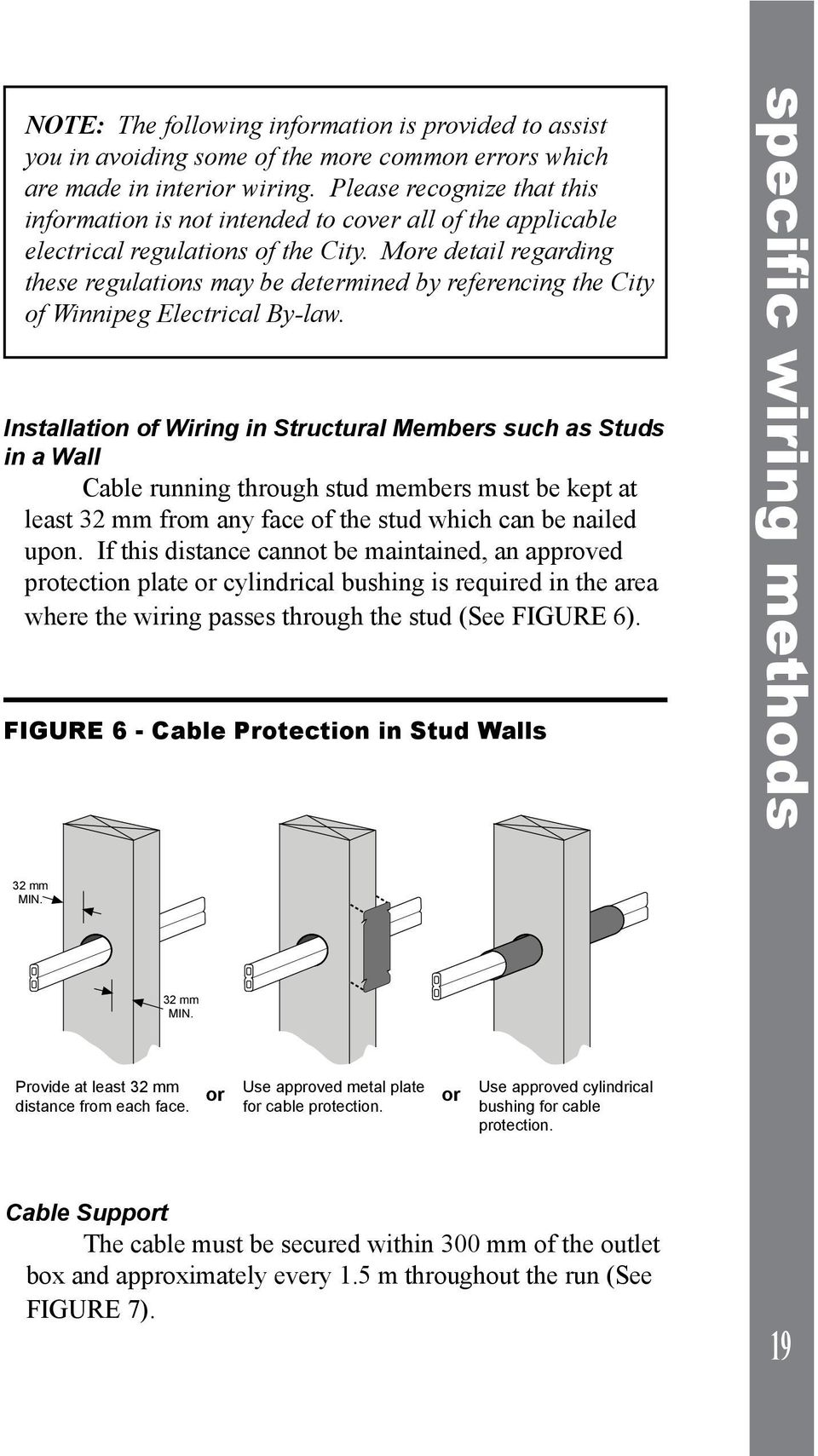Electrical Installations A Homeowner Guide To The Winnipeg Electric Baseboard Wiring Diagrams 120 6feet More Detail Regarding These Regulations May Be Determined By Referencing City Of