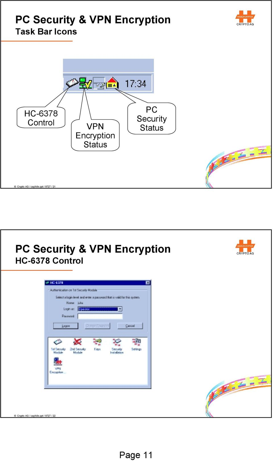 HC By Crypto AG  PC Security & VPN Encryption  HC-6360 PC Security