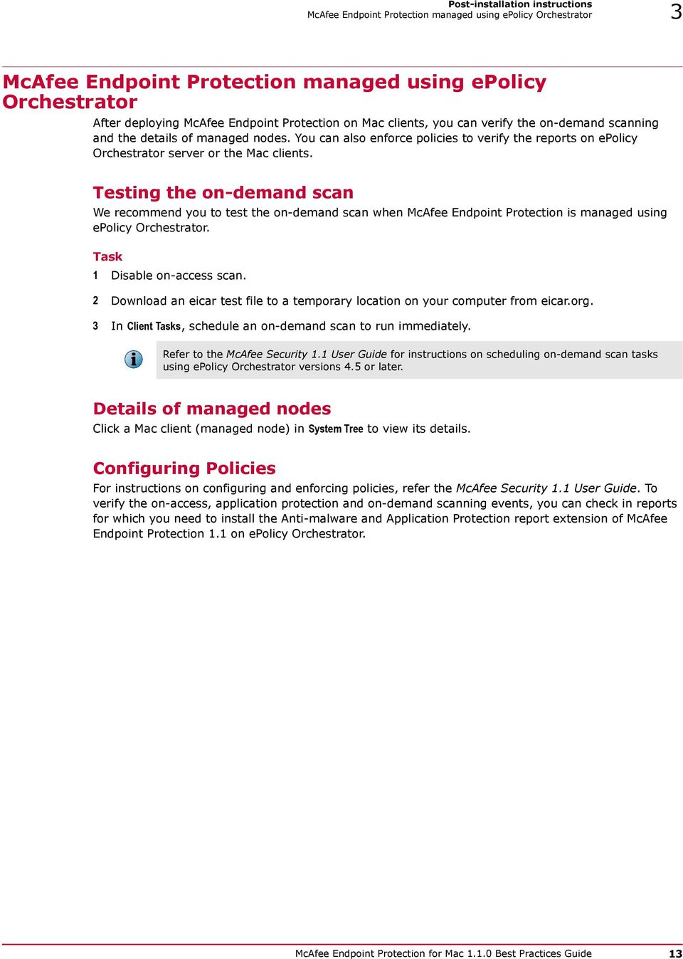 Best Practices Guide  McAfee Endpoint Protection for Mac PDF
