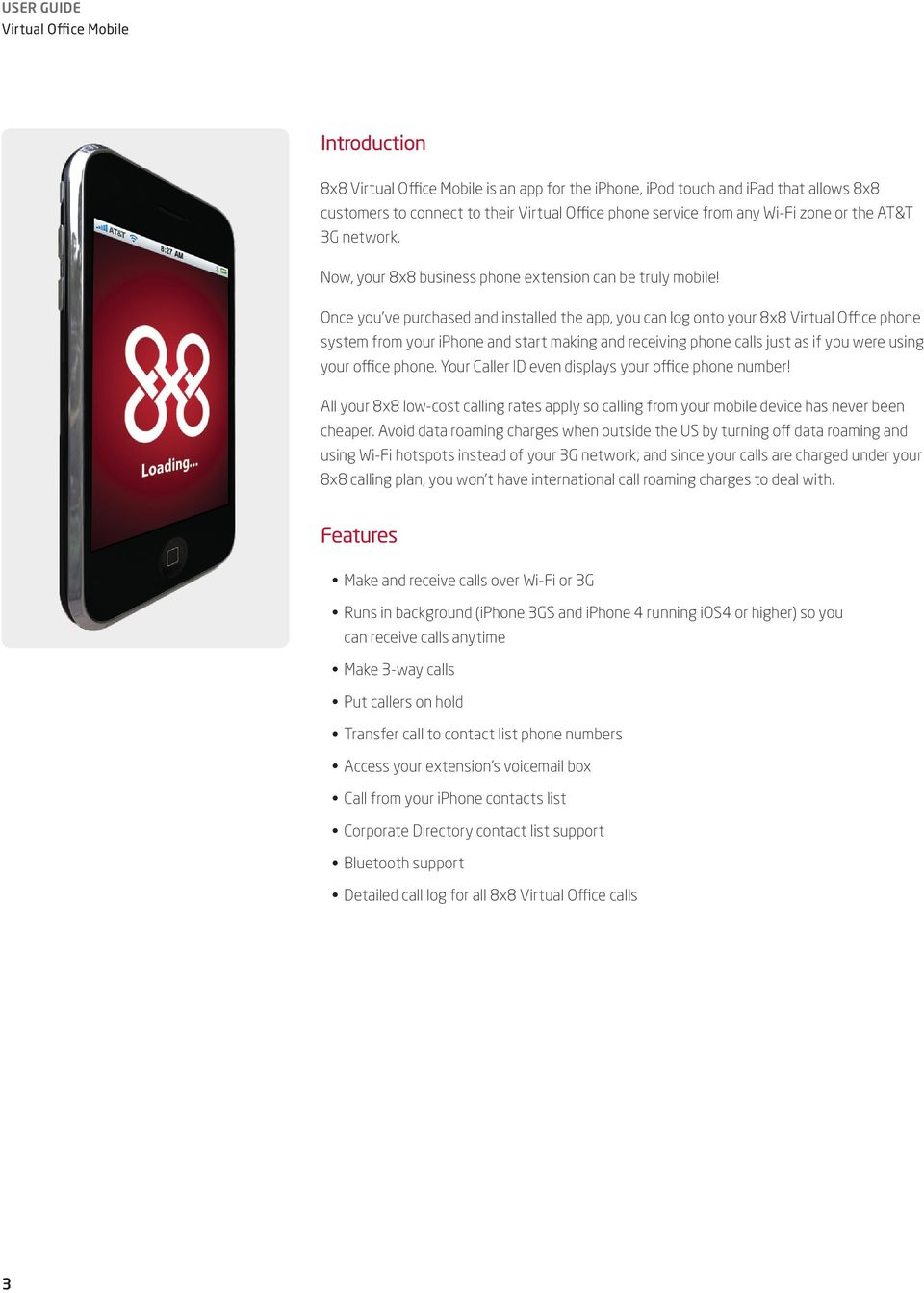8x8 Virtual Office Mobile User Guide for iphone - PDF