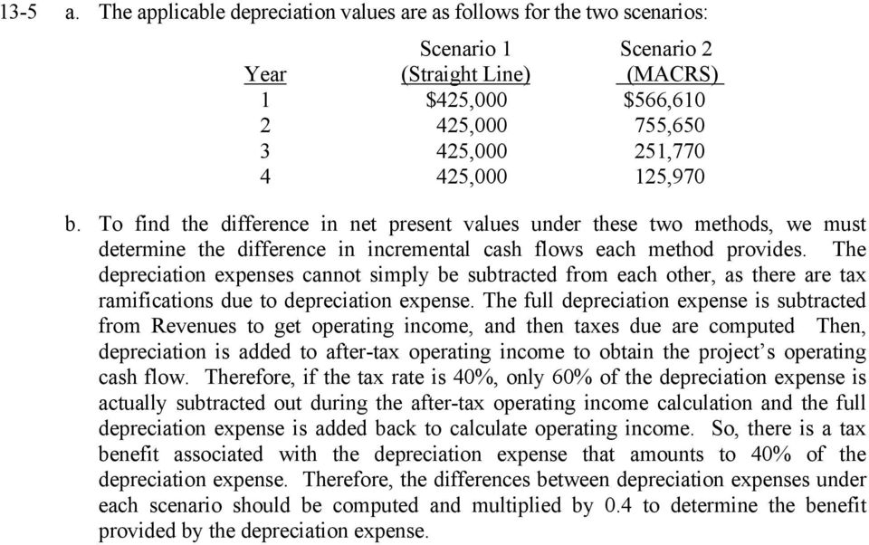 Chapter 13 Capital Budgeting: Estimating Cash Flow and