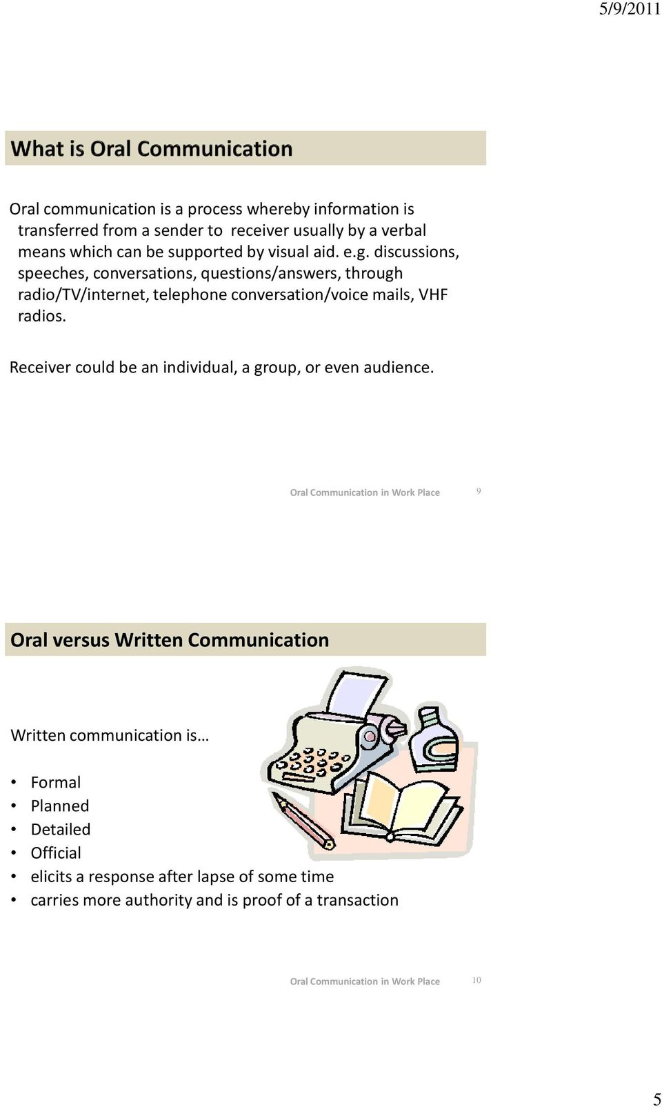 Oral Communication in Workplace - PDF
