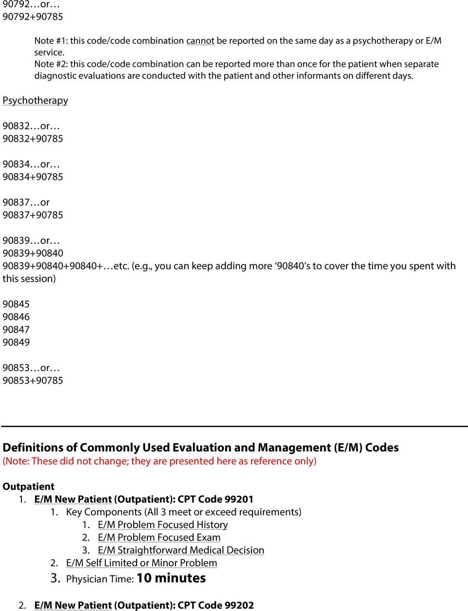 Cpt Code Changes For 2013 Behavioral Health Pdf