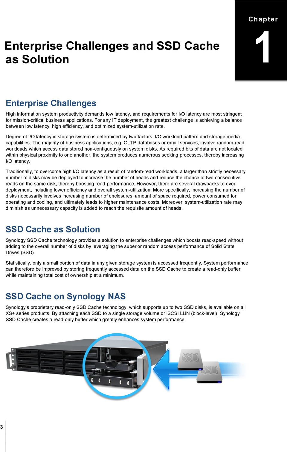 Using Synology SSD Technology to Enhance System Performance