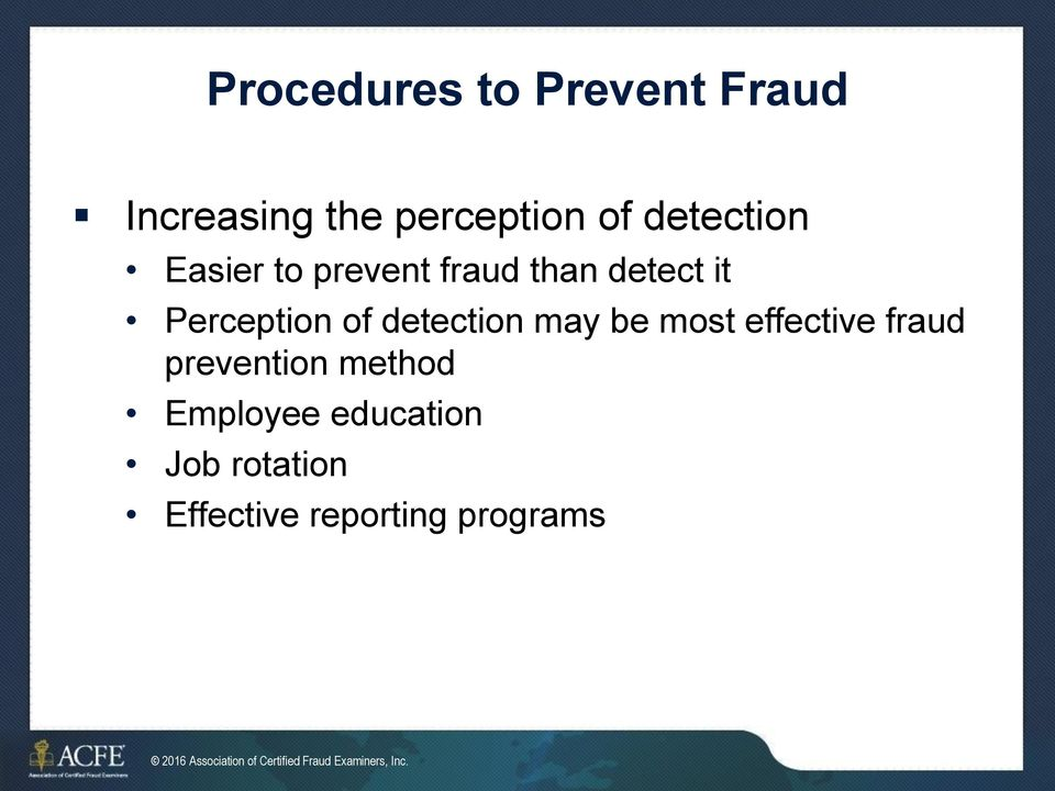 Fraud Prevention and Deterrence - PDF Free Download
