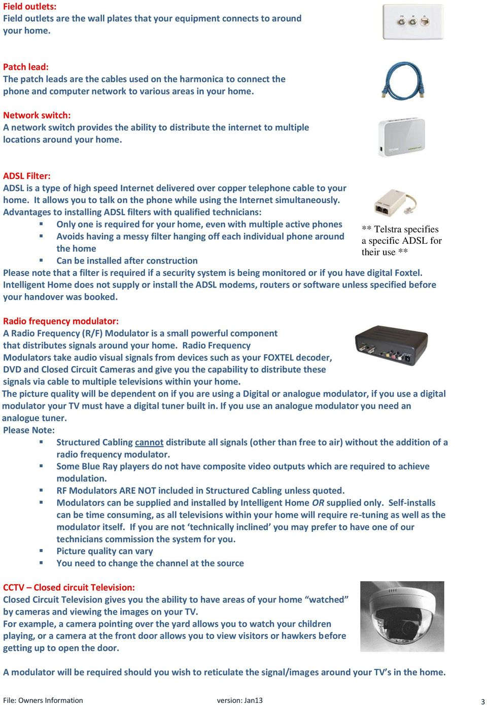 Owners Manual Contents Introduction 2 Definitions Smartwire Because All Switches In This Closedcircuit System Are A Wiring Network Switch Provides The Ability To Distribute Internet Multiple Locations
