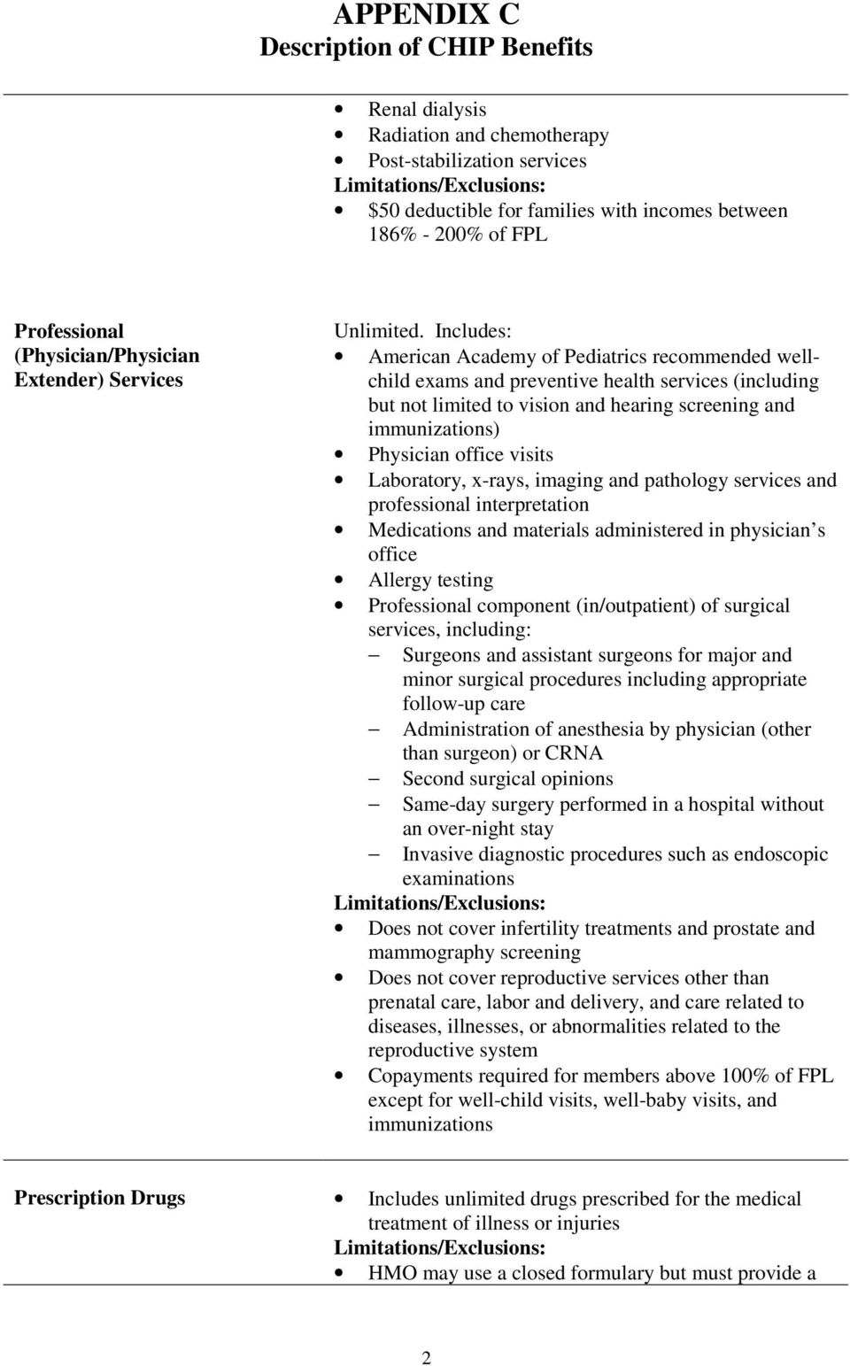 visits Laboratory, x-rays, imaging and pathology services and professional interpretation Medications and materials administered in physician s office Allergy testing Professional component