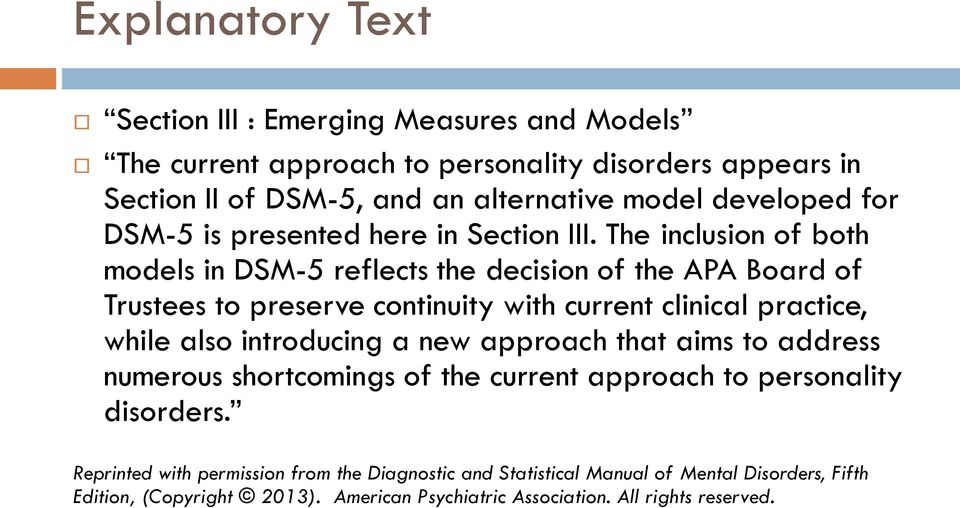 Personality and the DSM-5 - PDF