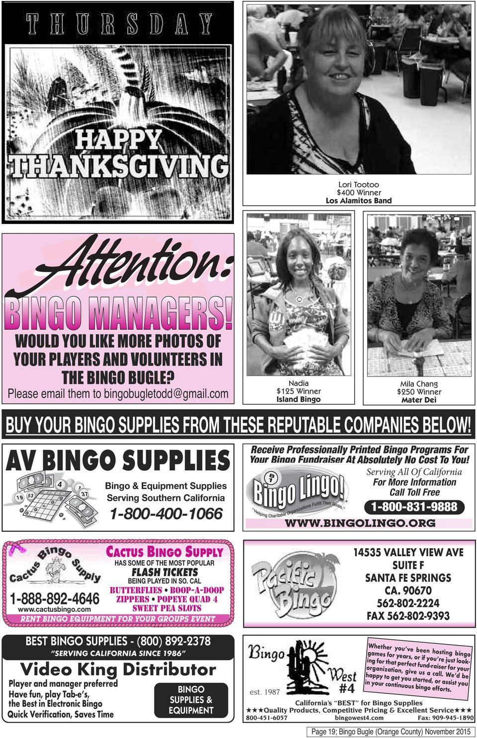 Receive Professionally Printed Bingo Programs For Your Fundraiser At Absolutely No