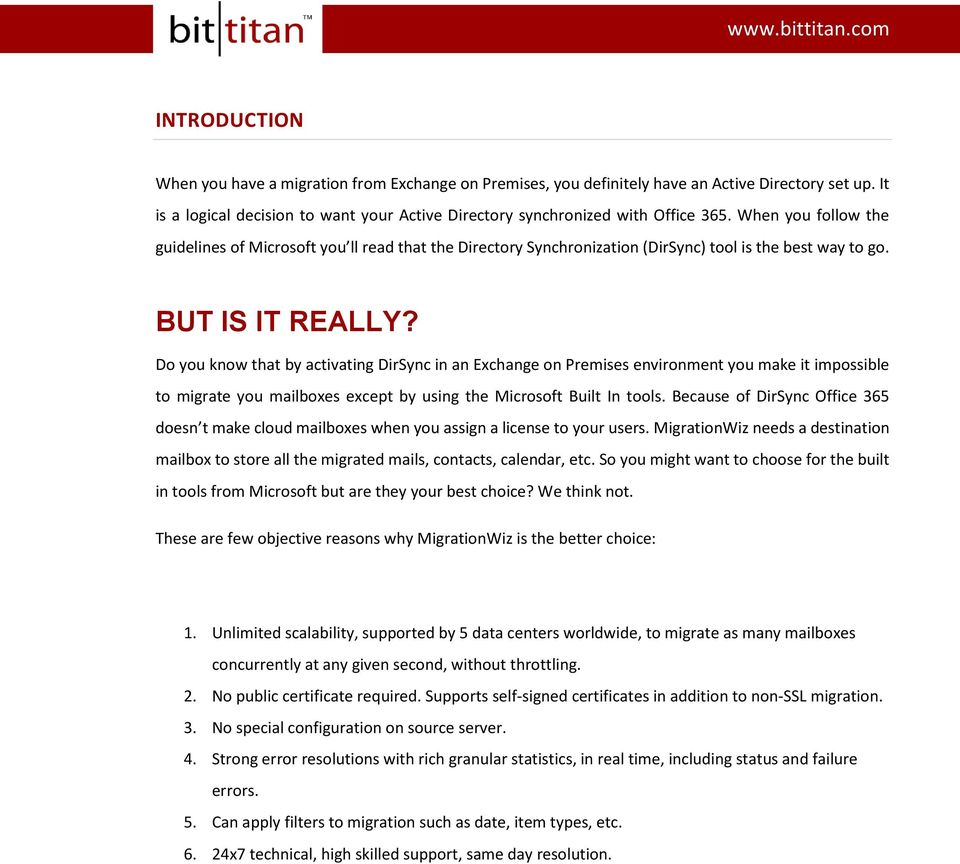 WHITE PAPER BT Sync, the alternative for DirSync during Migrations - PDF