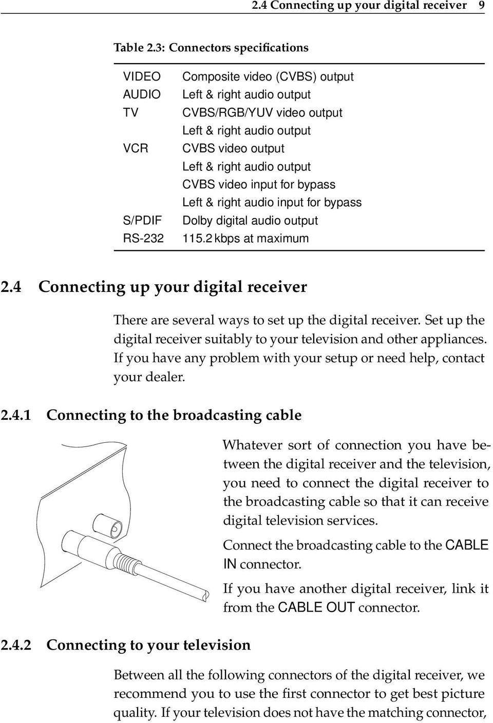 TOPFIELD TF 6000 COC  User Guide  Digital Cable Receiver CONAX - PDF