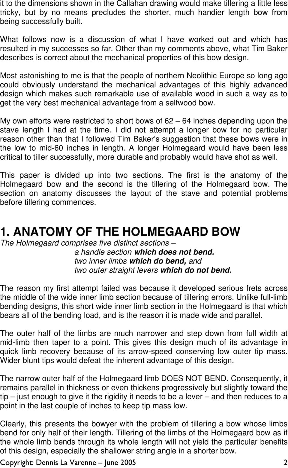 Tillering the Holmegaard Bow - PDF