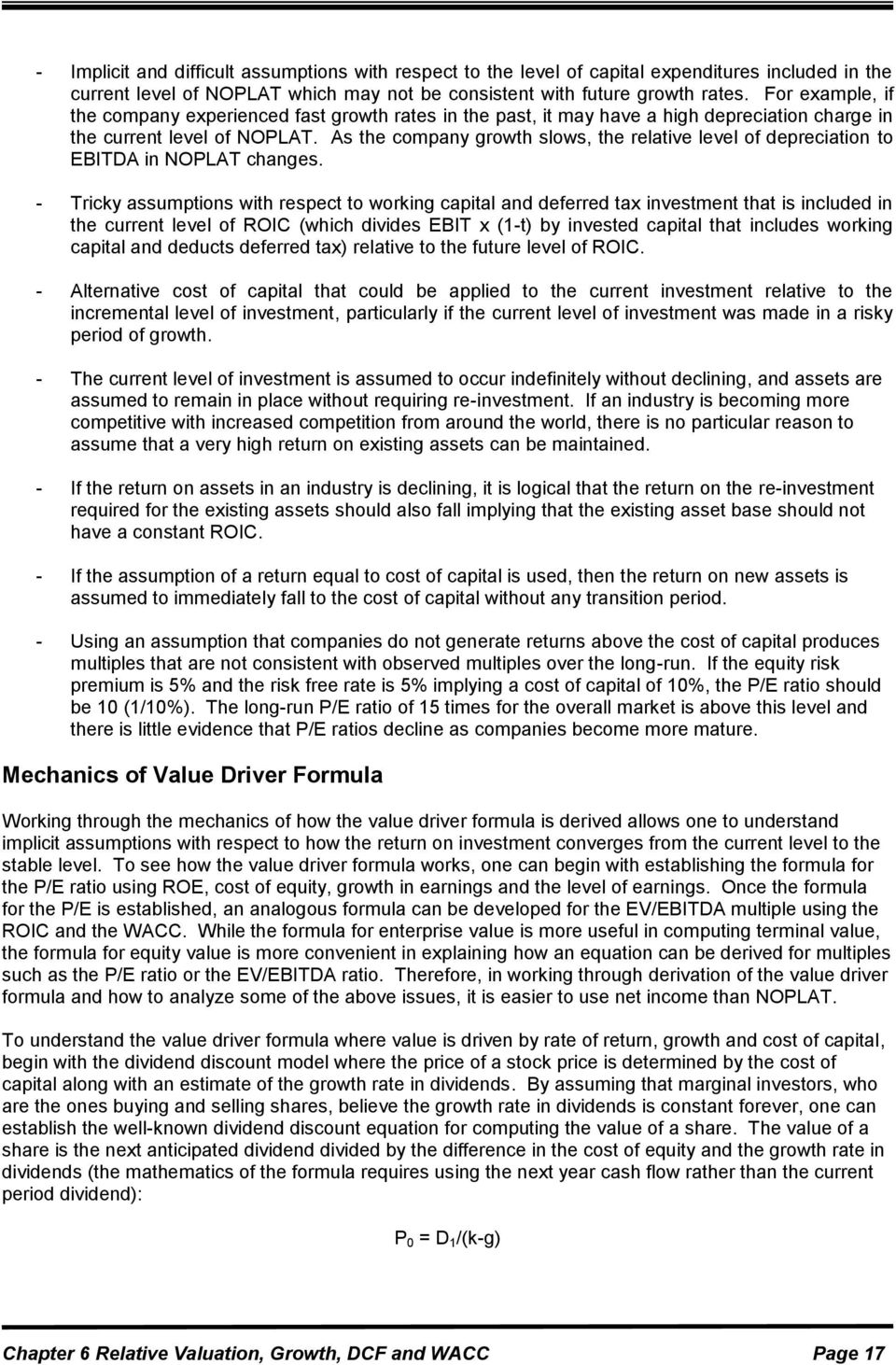 Company Valuation Formula Ebitda