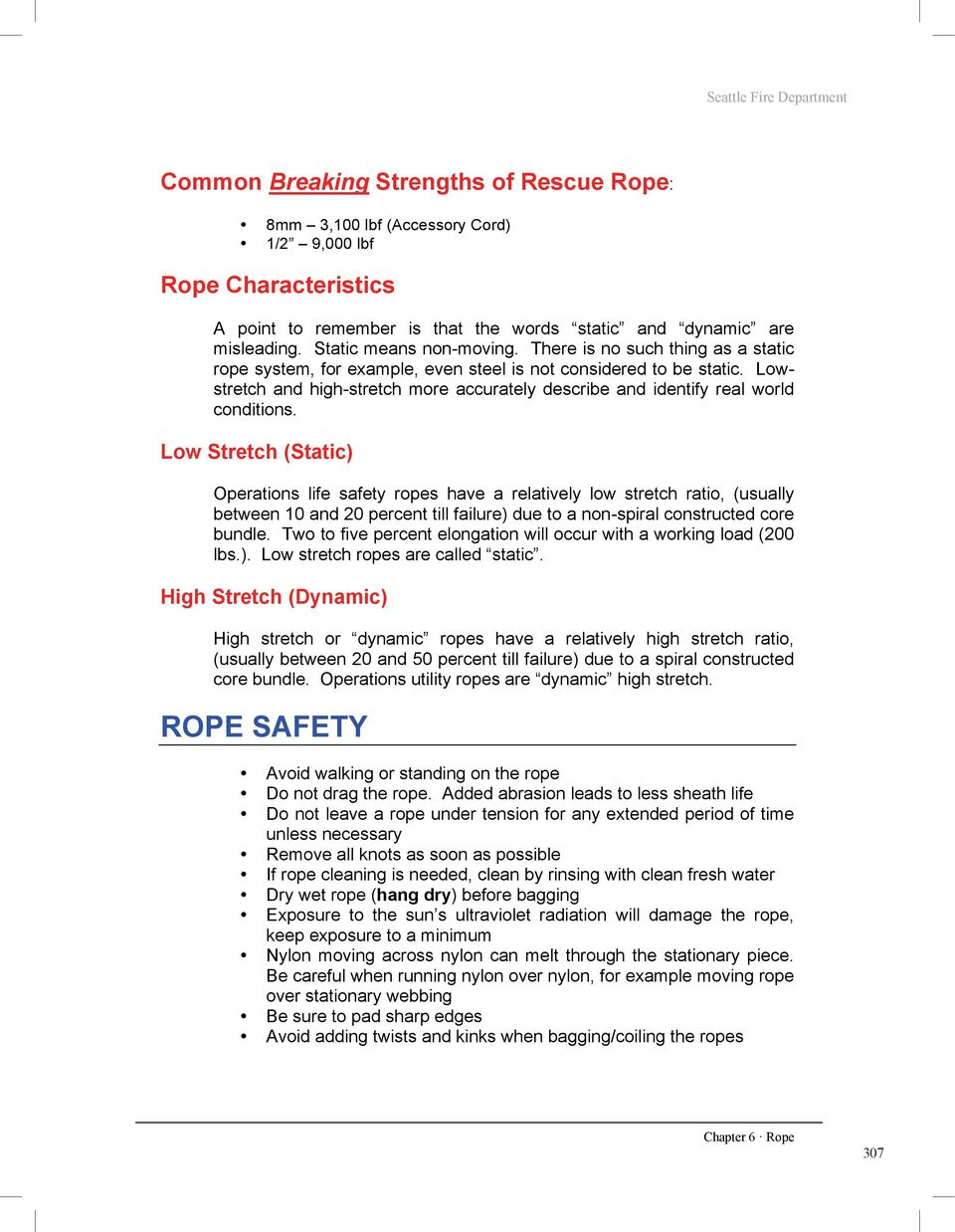 Chapter 6. Basic Ropes & Knots. Chapter 6 Ropes & Knots - PDF