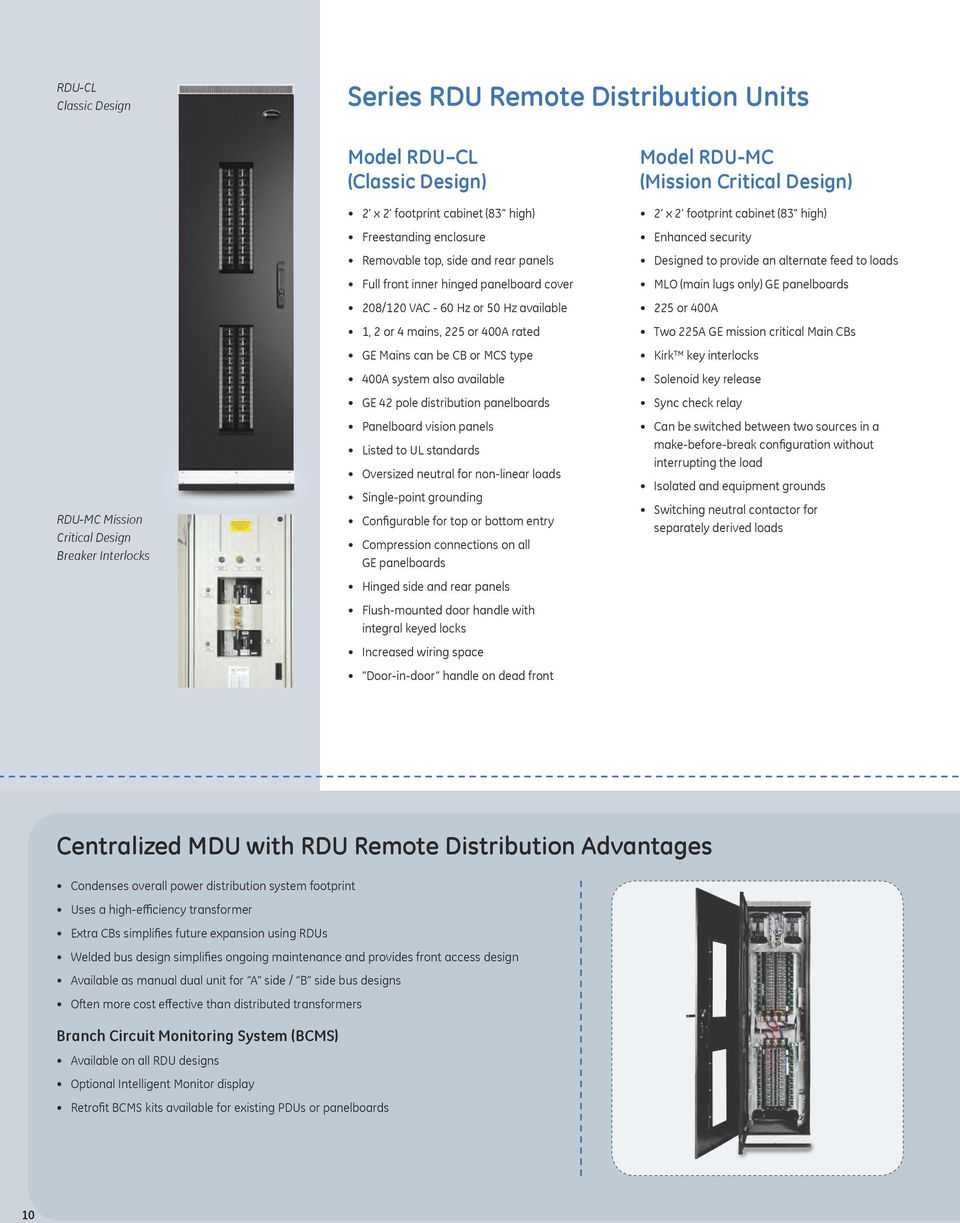 Zenith Series Mdu Rdu Critical Power Distribution Units Pdf Which Displays The Cost Of Powering Monitored Load Available Ge 42 Pole Panelboards Panelboard Vision Panels Listed To Ul Standards Oversized Neutral For
