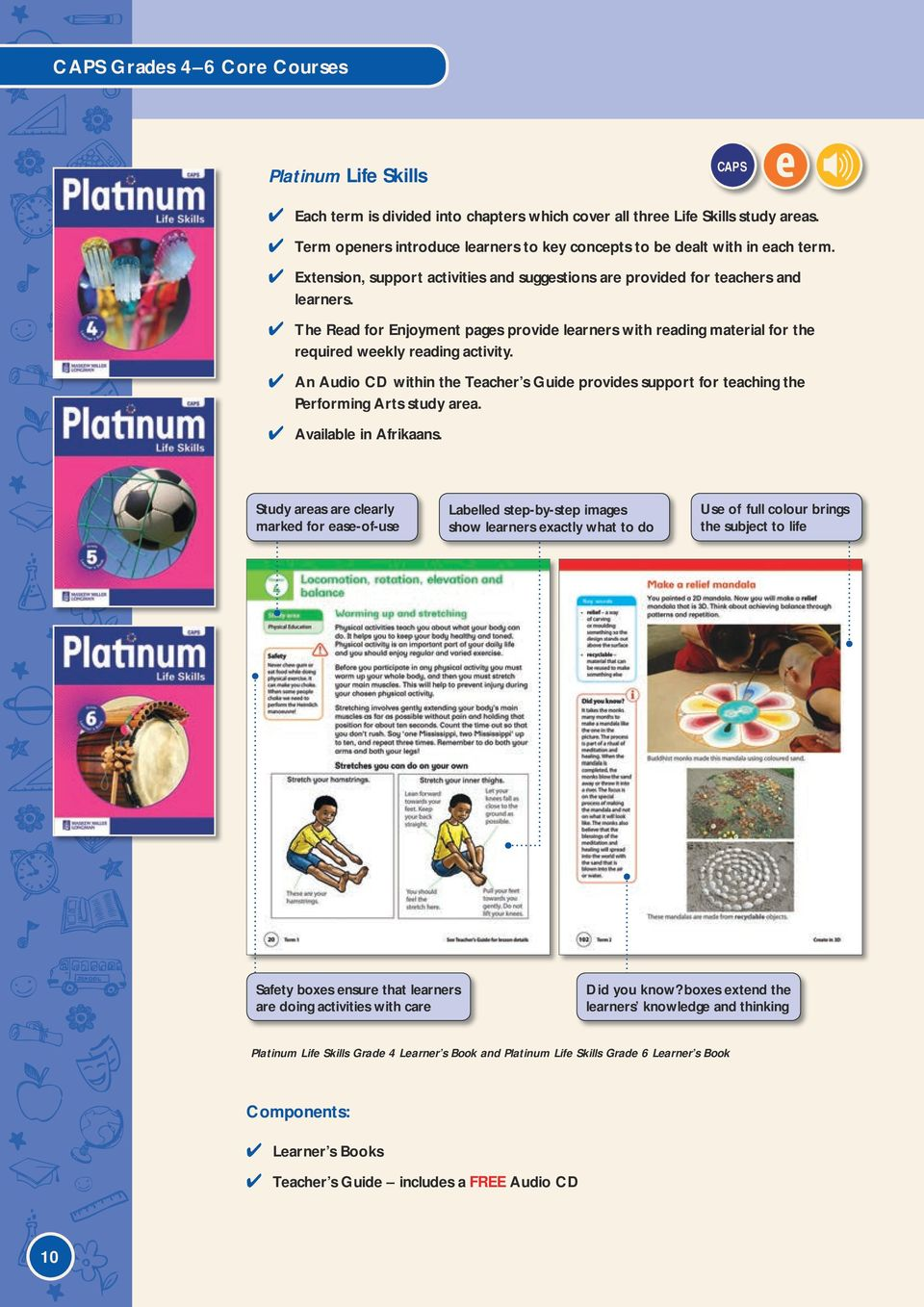 The Read for Enjoyment pages provide learners with reading material for the  required weekly reading activity