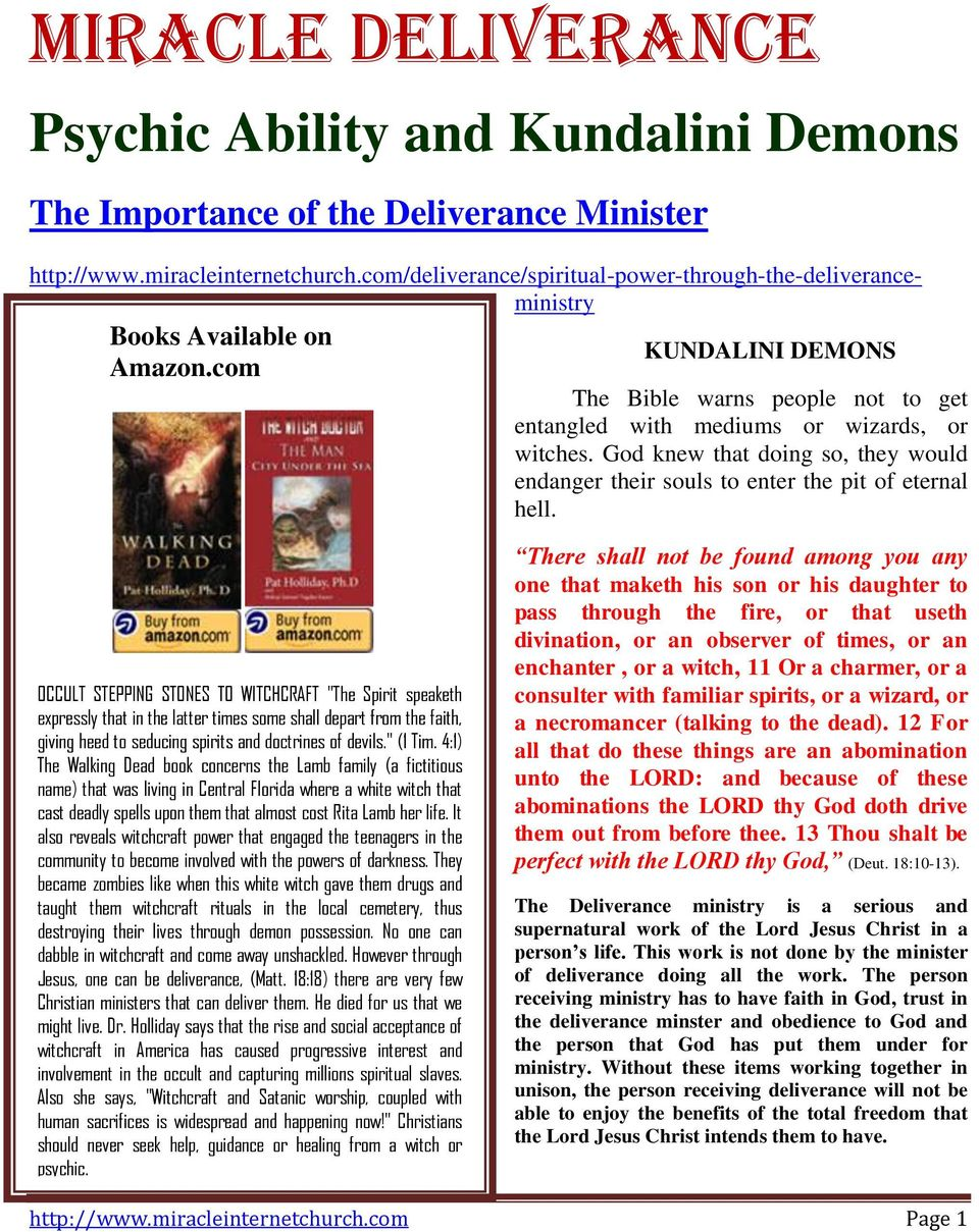 Psychic Ability and Kundalini Demons  The Importance of the