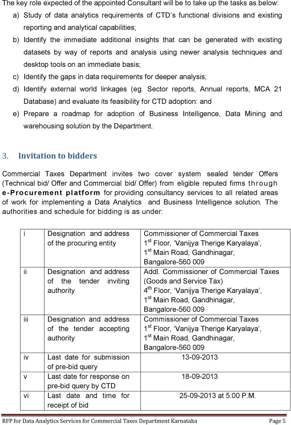 Governmernt of Karnataka Department of Commercial Taxes