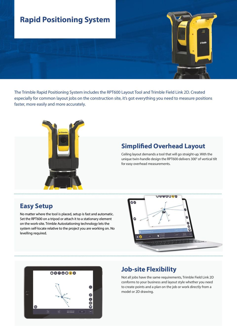 Construction layout and scanning solutions for the MEP