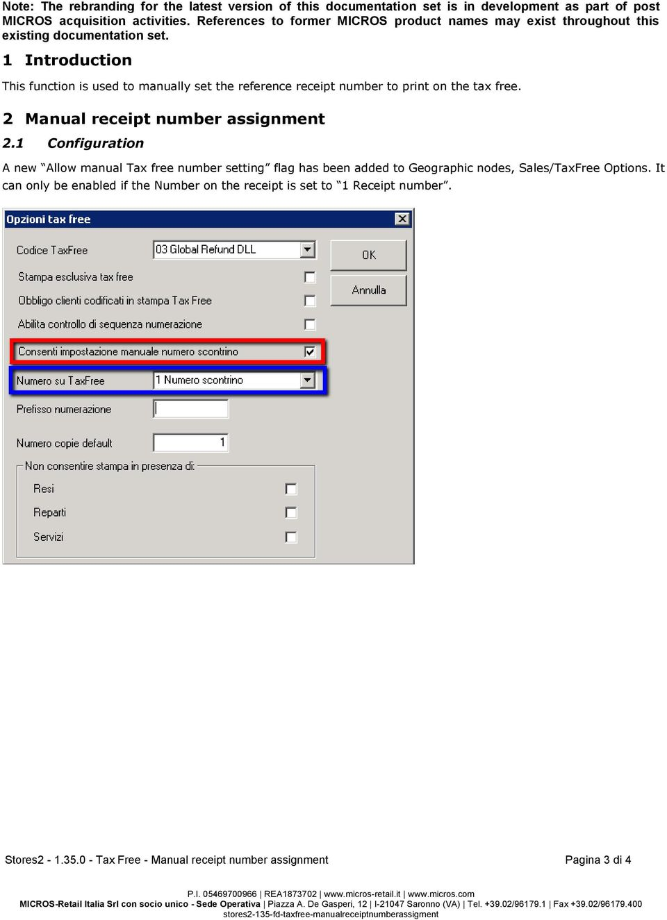 1 Introduction This function is used to manually set the reference receipt  number to print on