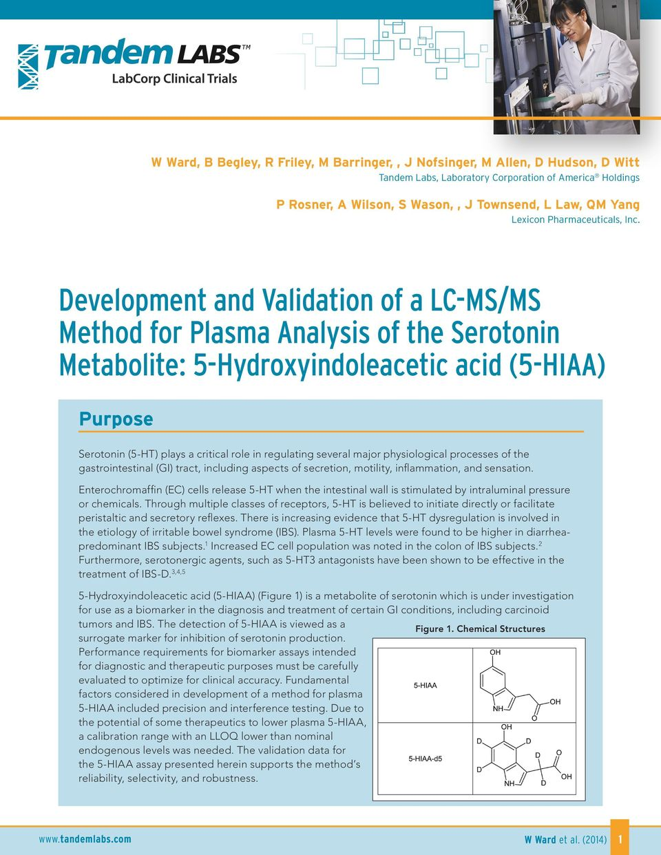 Development and Validation of a LC-MS/MS Method for Plasma
