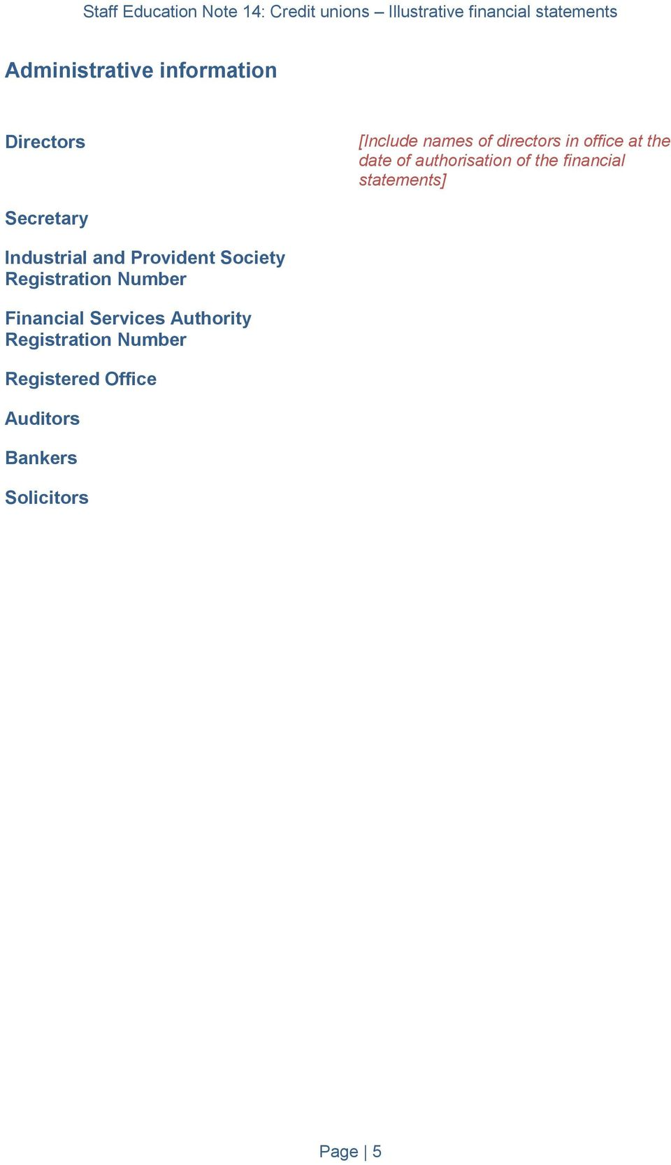 Industrial and Provident Society Registration Number Financial Services