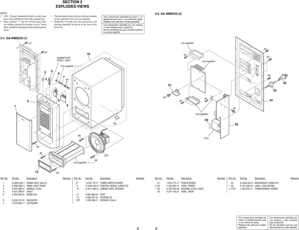Service Manual Sa Ve230wms230 Ss Cn230v230 Micro Satellite System