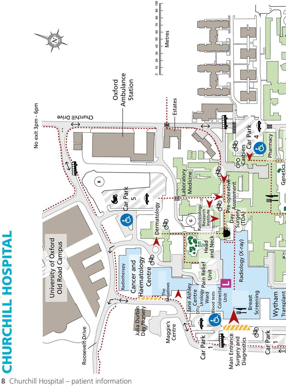 Churchill Hospital Map CHURCHILL HOSPITAL. Information for patients. Practical advice for