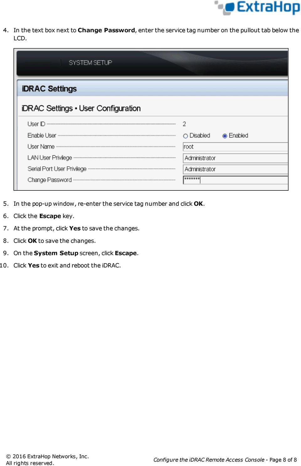 Configure the idrac Remote Access Console - PDF