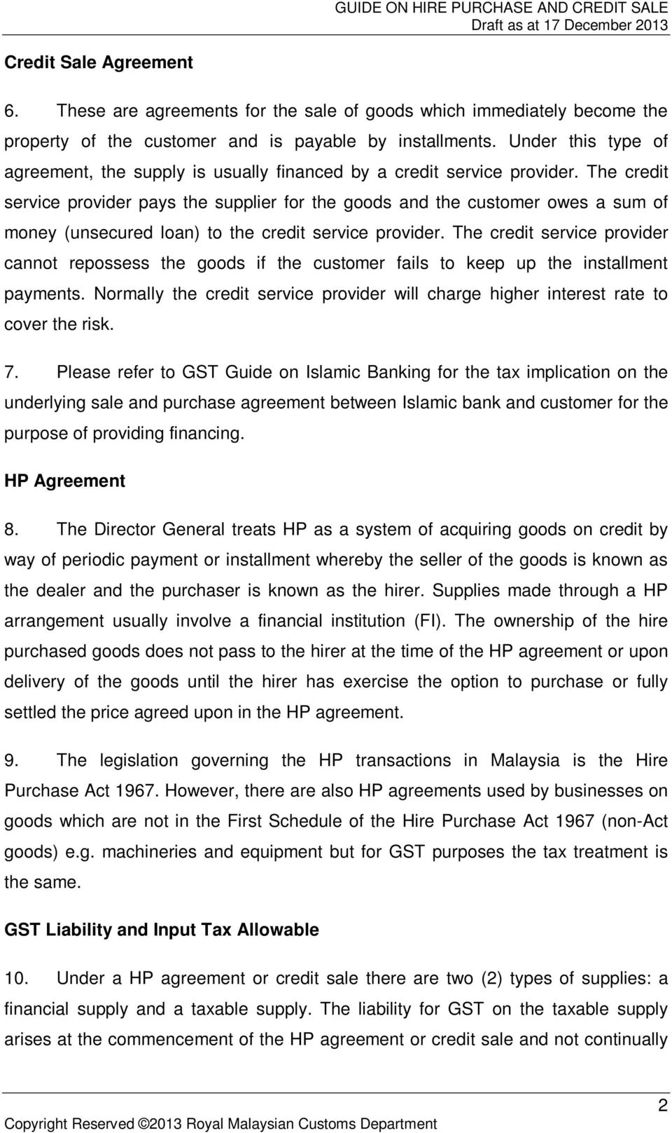 Royal Malaysian Customs Goods And Services Tax Guide Pdf
