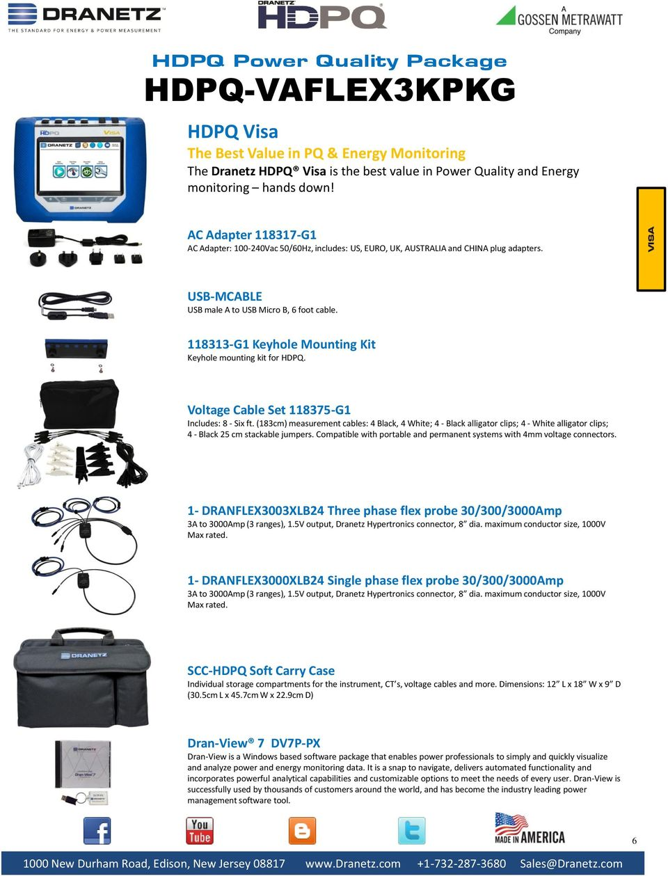 Hdpq Power Quality Packages Pdf Com Buy Ac90 1000v Induction Type Ac Circuit Detector Voltage 5v Output Dranetz Hypertronics Connector 8 Dia Maximum Conductor Size Max