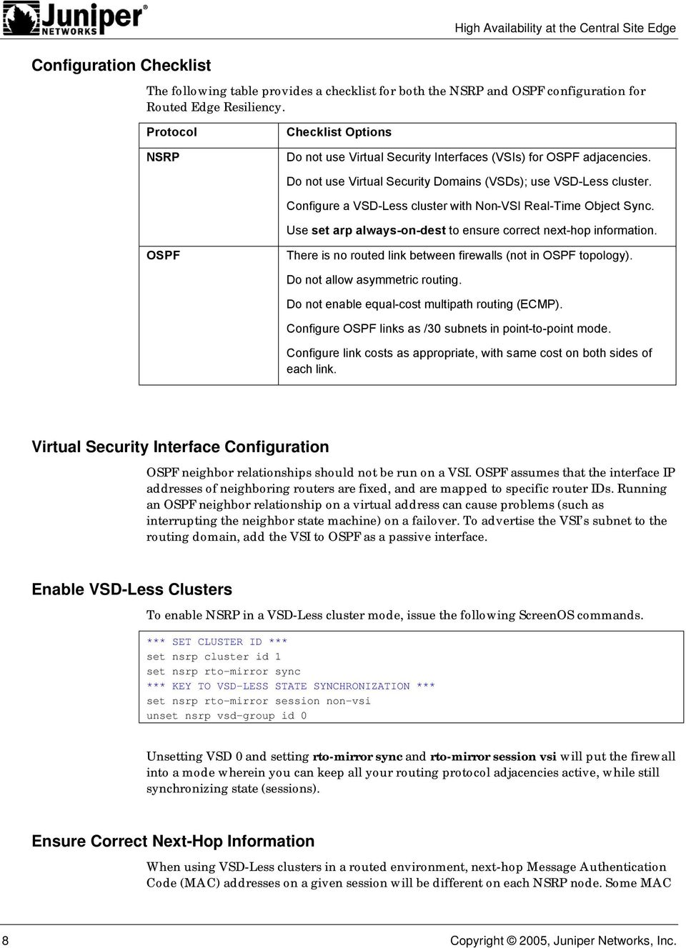 High Availability at the Central Site Edge - PDF