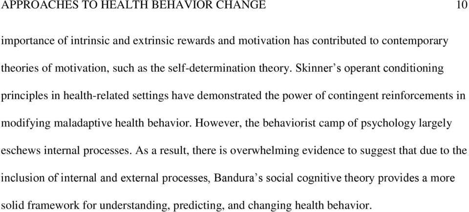 behaviorism and social cognitive theory