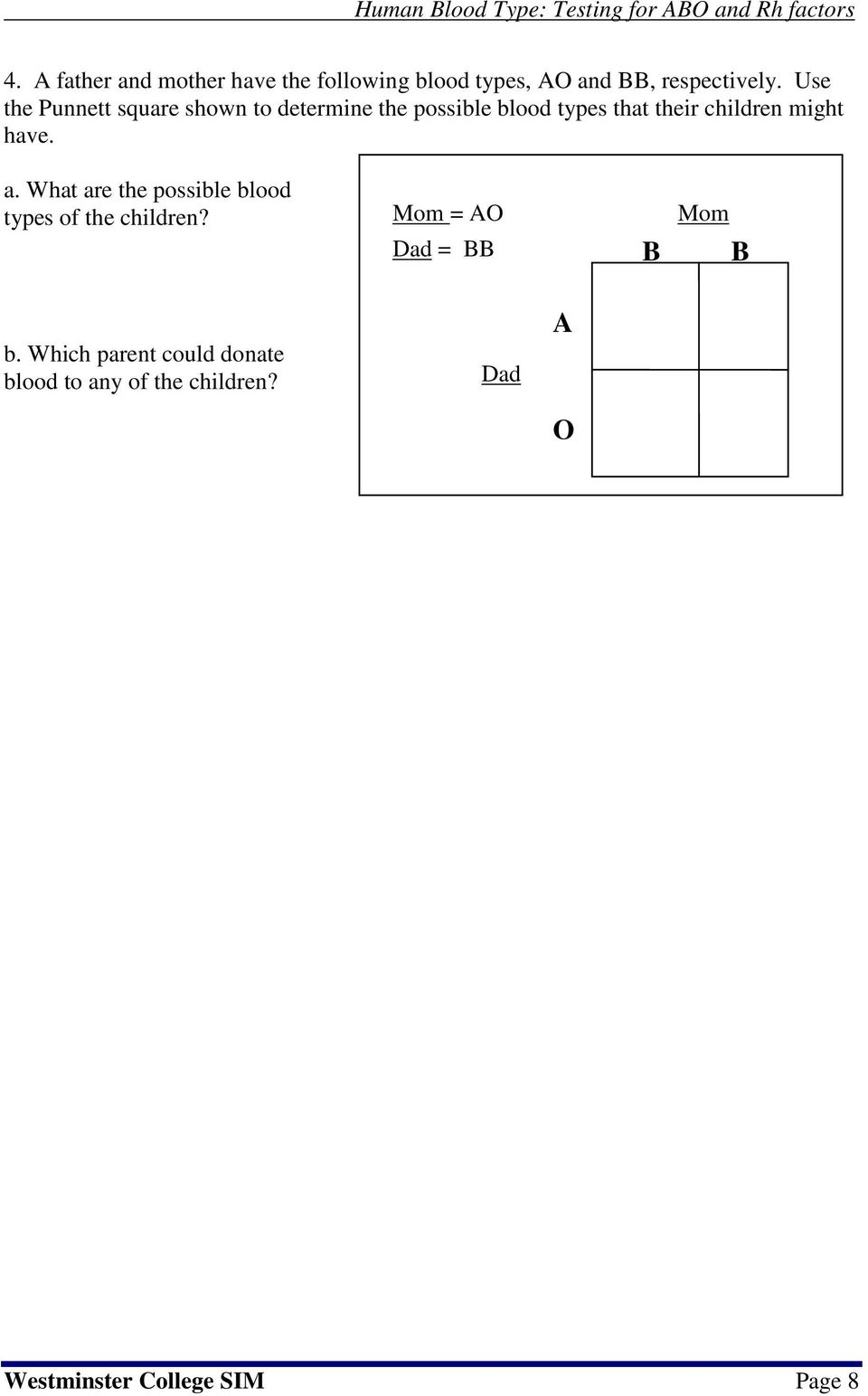 ernies exit blood typing lab activity answer key