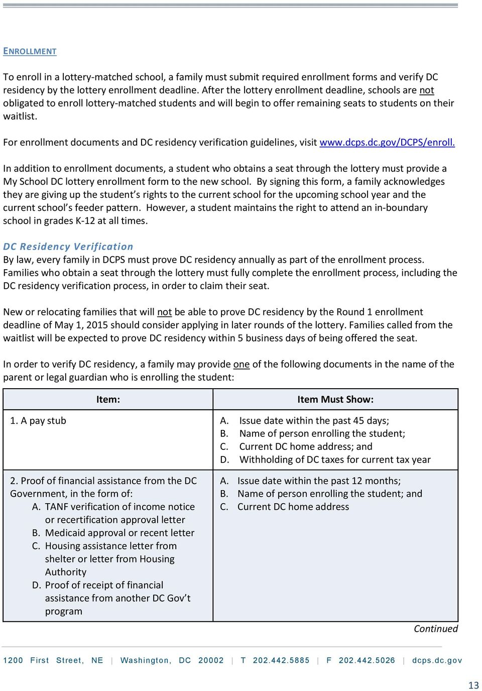 My School Dc Lottery And Enrollment Policy Handbook Pdf Free Download