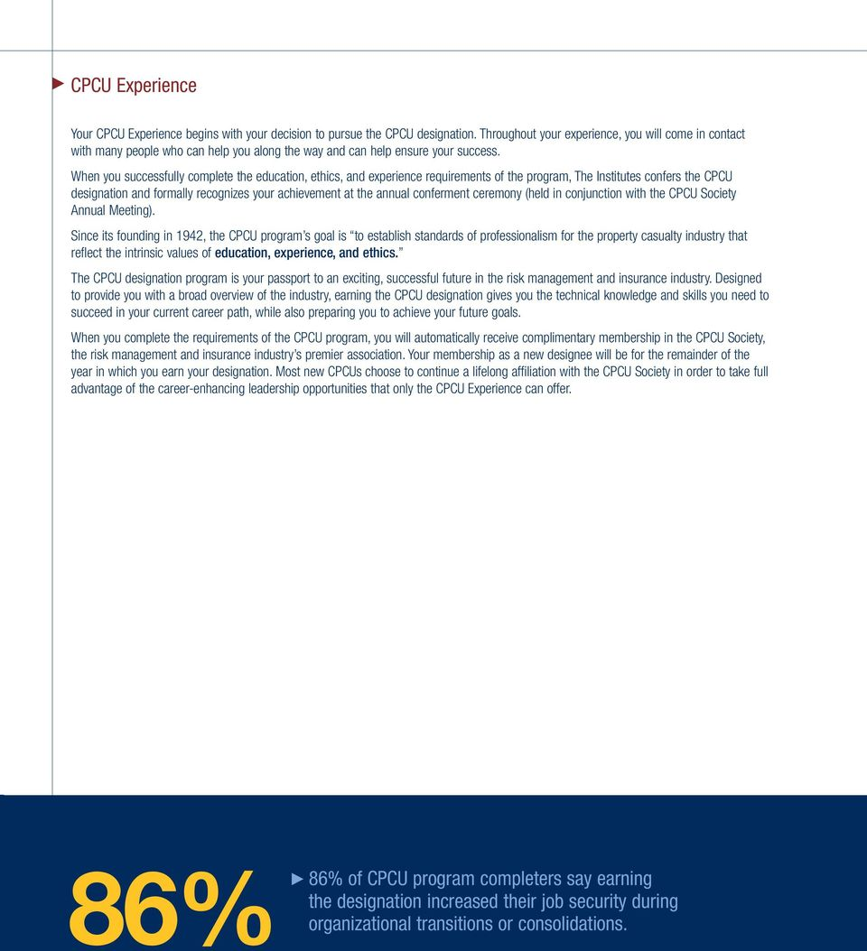 Your Cpcu Experience Pdf