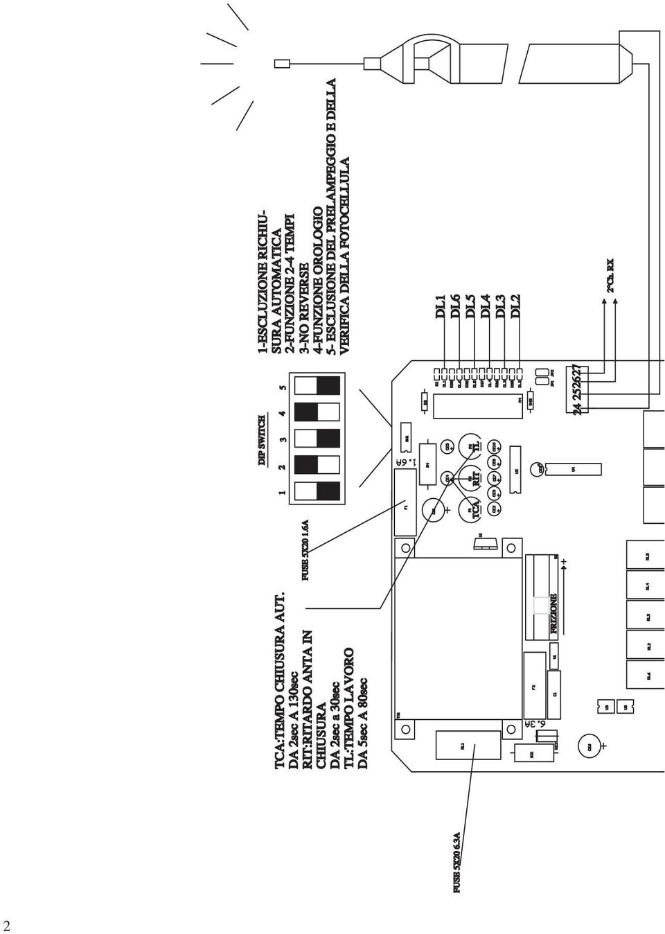 D755m Control Card For Two Single Phase Motors 220 230 Vac Tarjeta Siren Simulator Wiring Diagram Schematic And 2