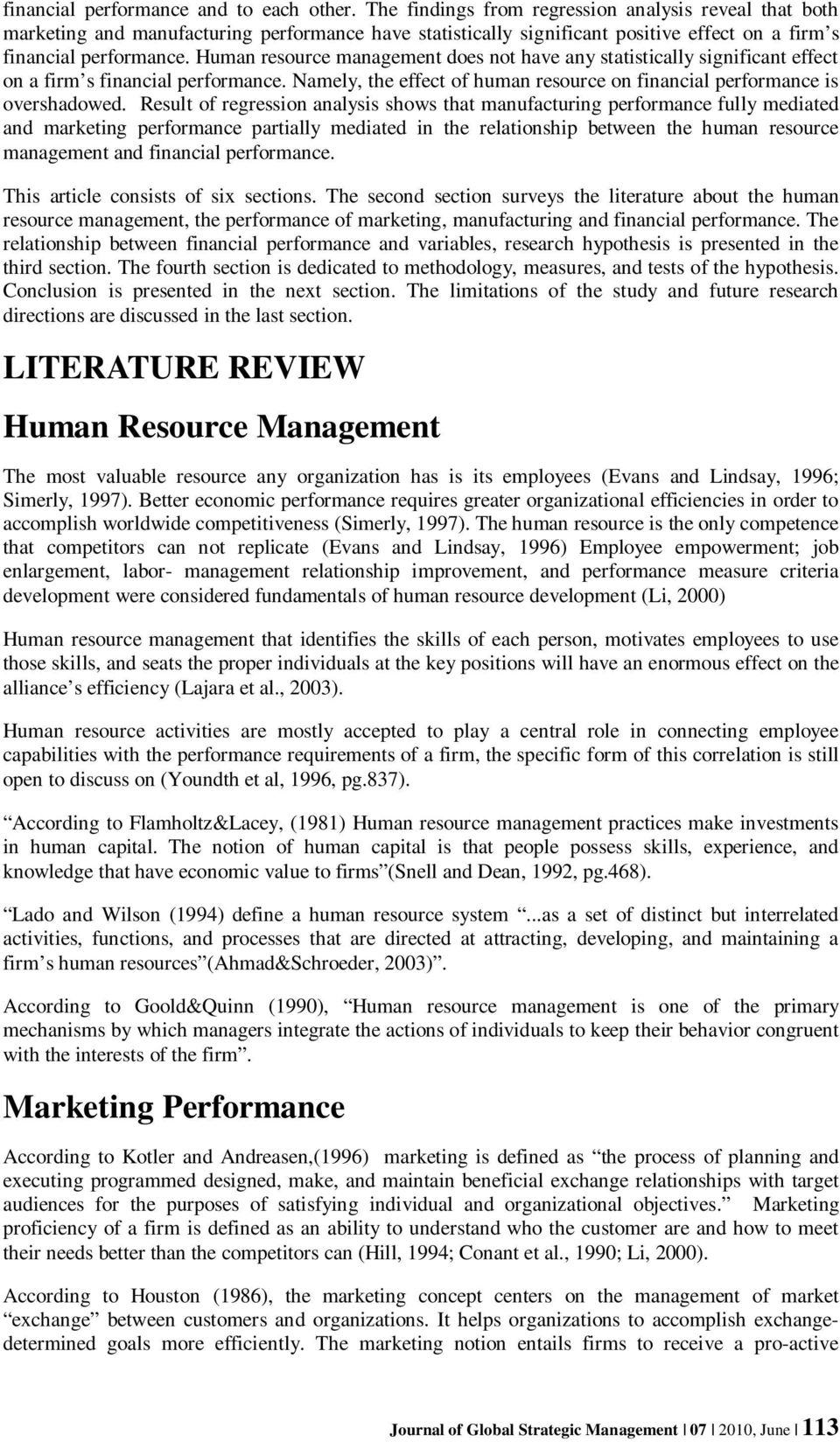 literature review of marketing mix strategy