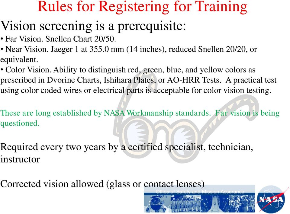 Workmanship Standards Personnel Training and Certification