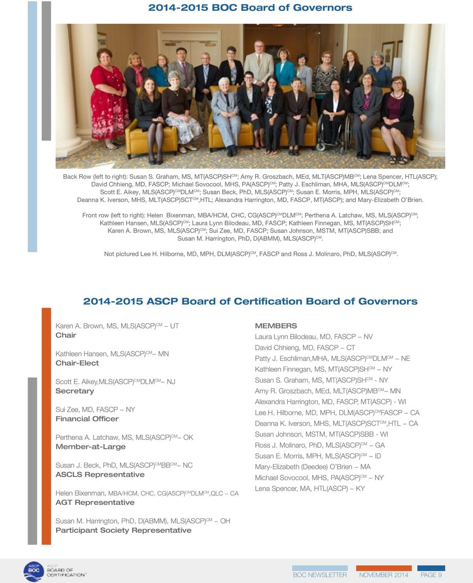 The Five Year Anniversary Of The Formation Of The Ascp Board Of