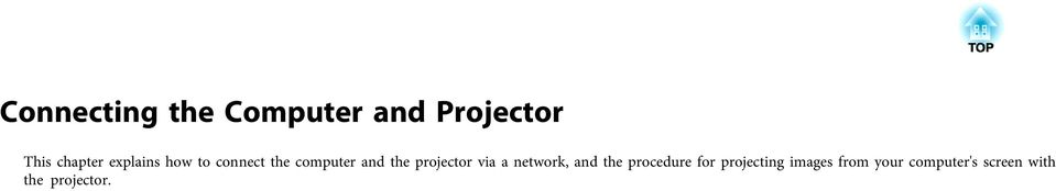 projector vi network, nd the procedure for